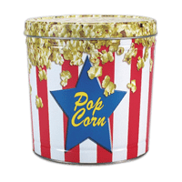 POPCORN TINS Variety of shapes & sizes up to 6.5 gallons