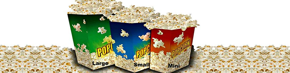 GOURMET POPCORN, VARIETY OF SIZES AND FLAVORS